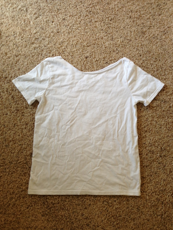 My T-shirt fresh from the dryer and needing an ironing.