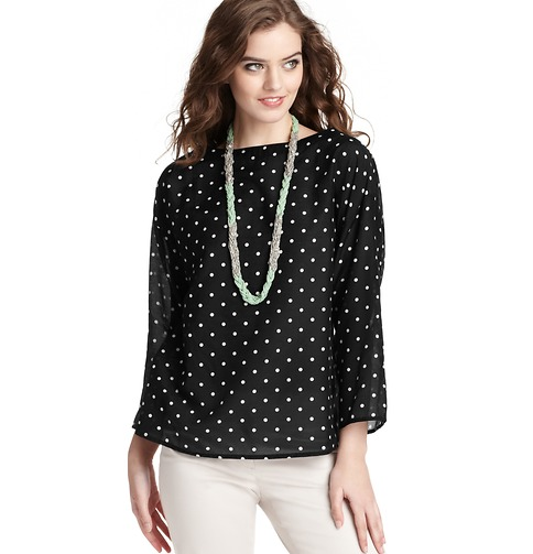 Polka dot top from Loft