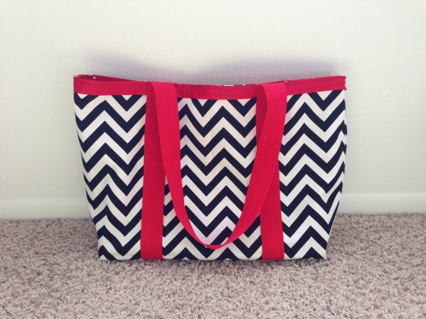 Chevron tote (New Look