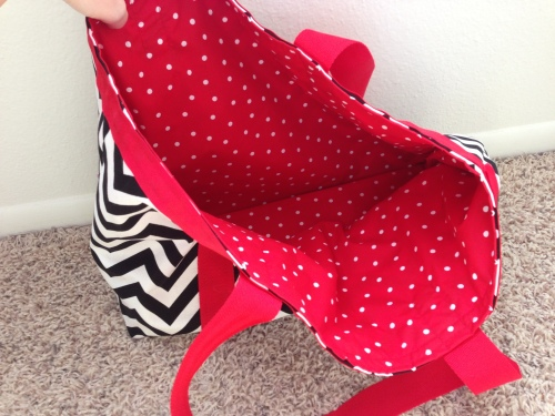 Lining- red polka dot quilting cotton